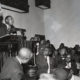 "1955 - The Rev. Martin Luther King, Jr. is shown speaking to an overflow crowd at a mass meeting at the Holt Street Baptist Church. King, leader of the mass bus boycott, was found guilty March 22, 1956 of conspiracy in the Montgomery bus boycott. He was fined $500. King said the boycott of city buses will continue ""no matter how many times they convict me."""